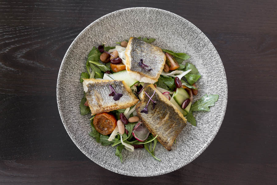 Seared Sea Bass Salad  2