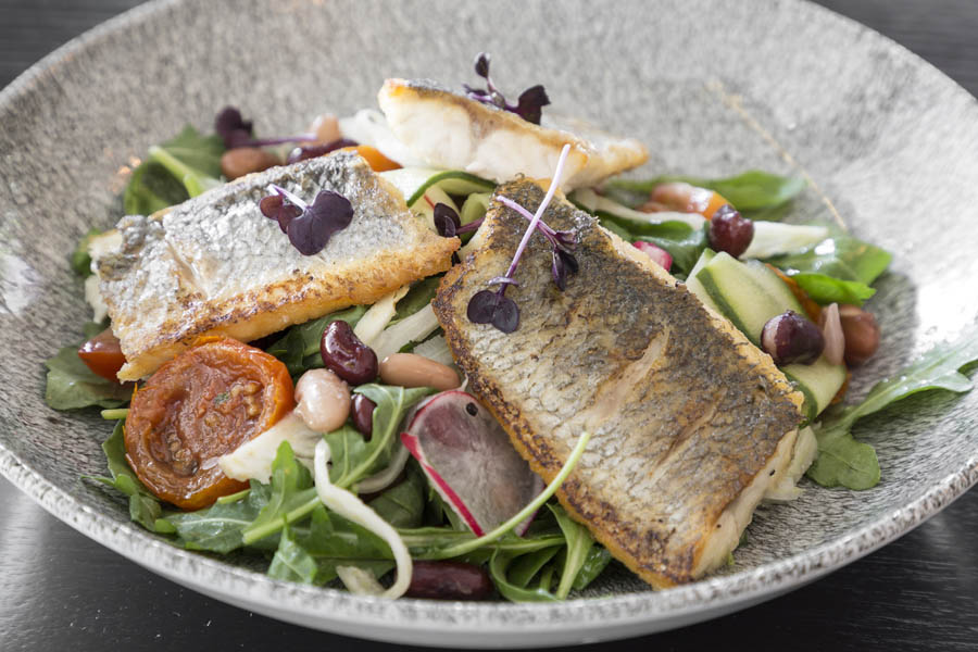 Seared Sea Bass Salad  3