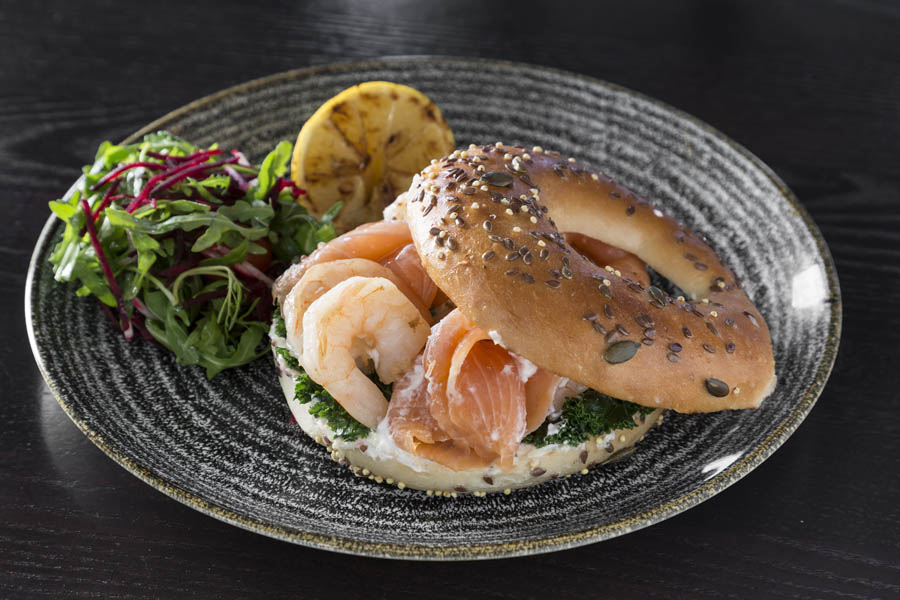 Wrights Irish Salmon Pran Bagel  6