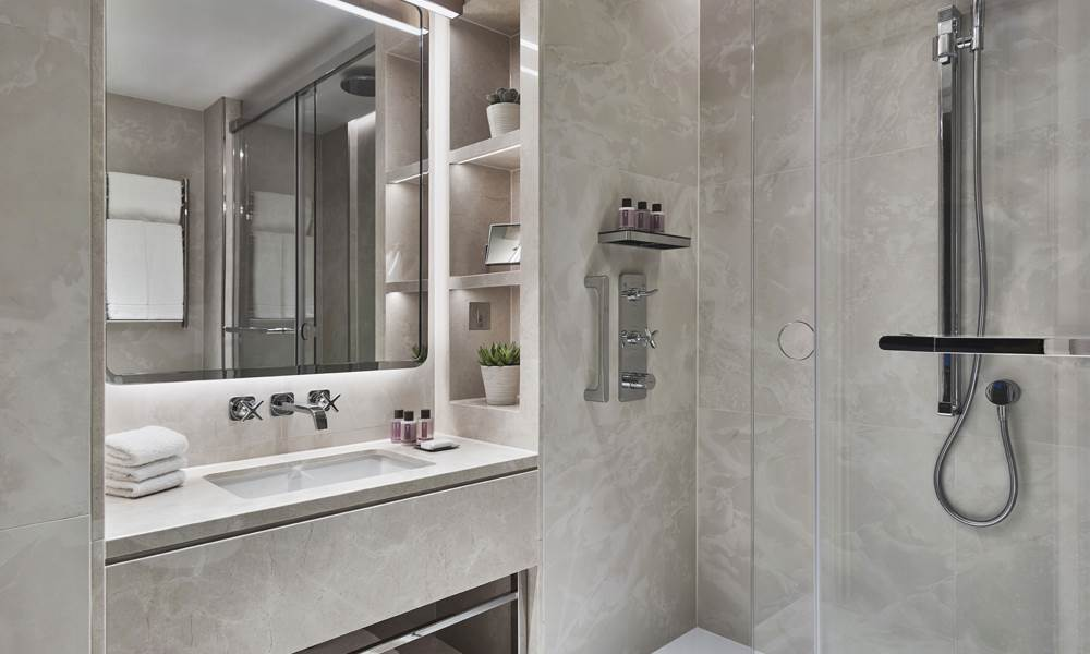 Our blissful bathrooms are designed around your comfort