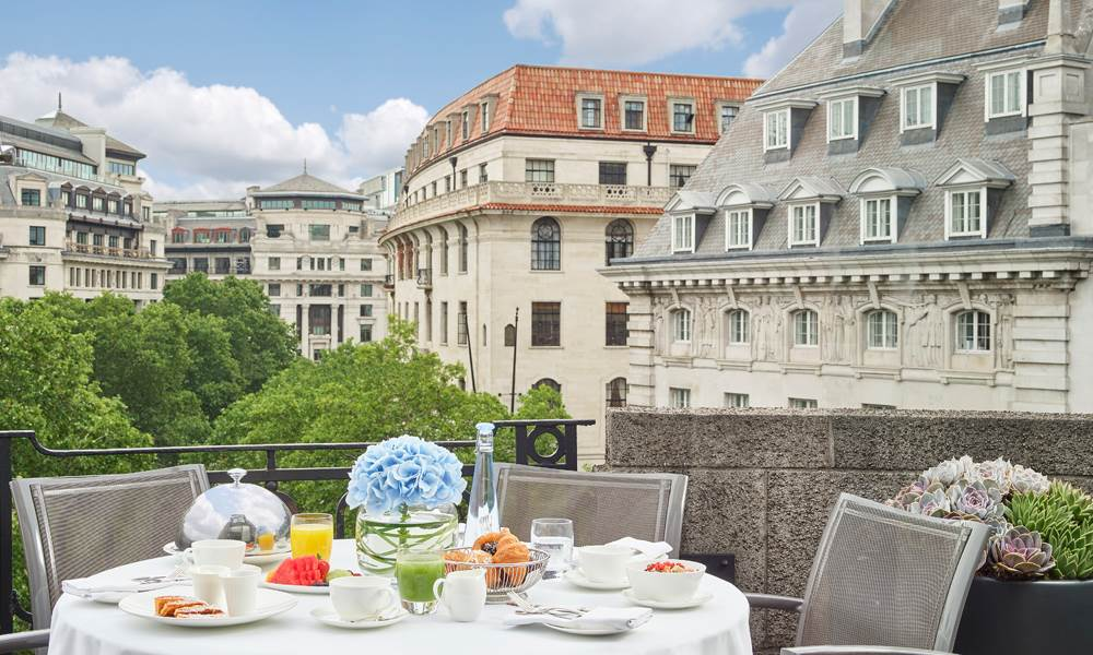 Soak up the wonderful views of the Aldwych from the sublime terrace
