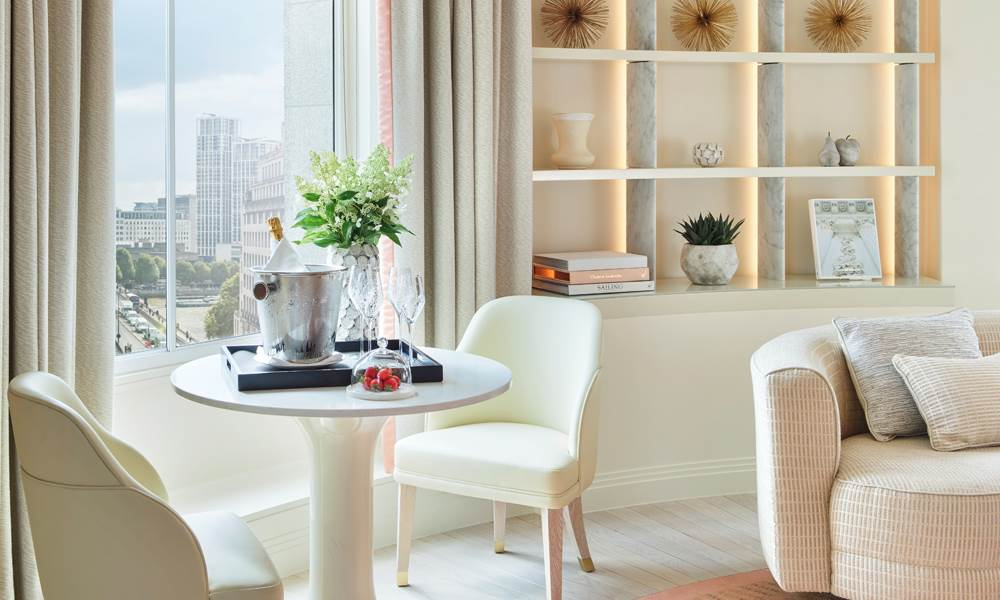 Discover unique artwork, extraordinary views and striking design in the Waterloo Bridge Suite.