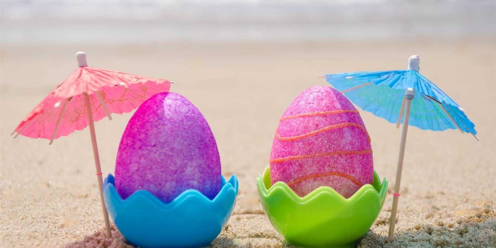 easter eggs beach
