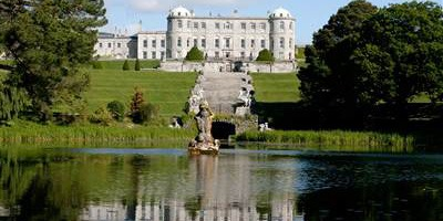 Powerscourt House and Triton Lake