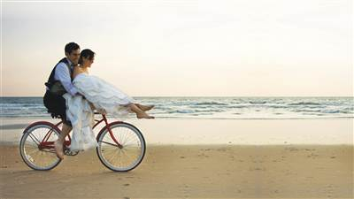 Couple on Bicycle Sneem