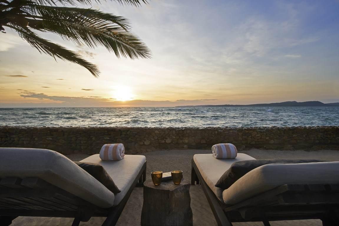 private beach at Ocean view villa