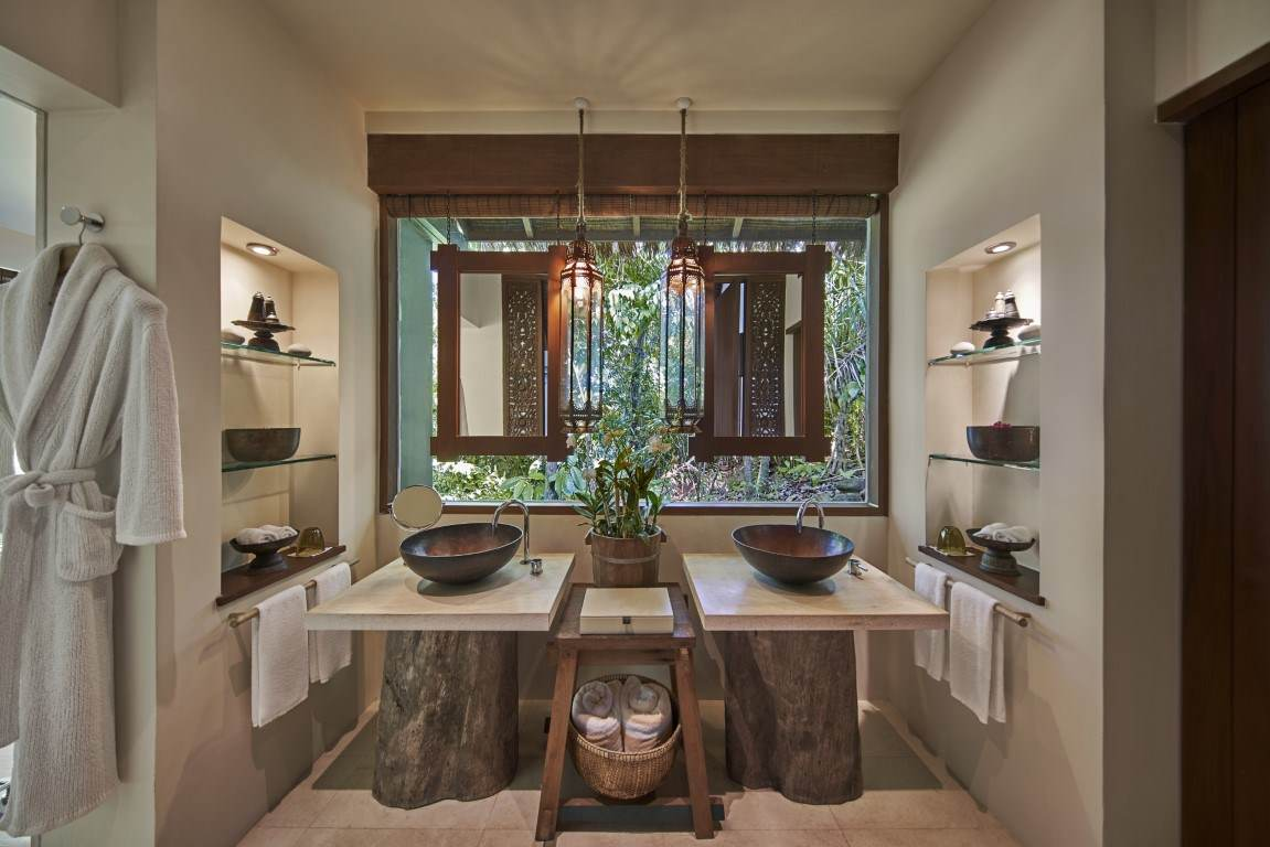 bathroom setup at one bedroom jungle villa