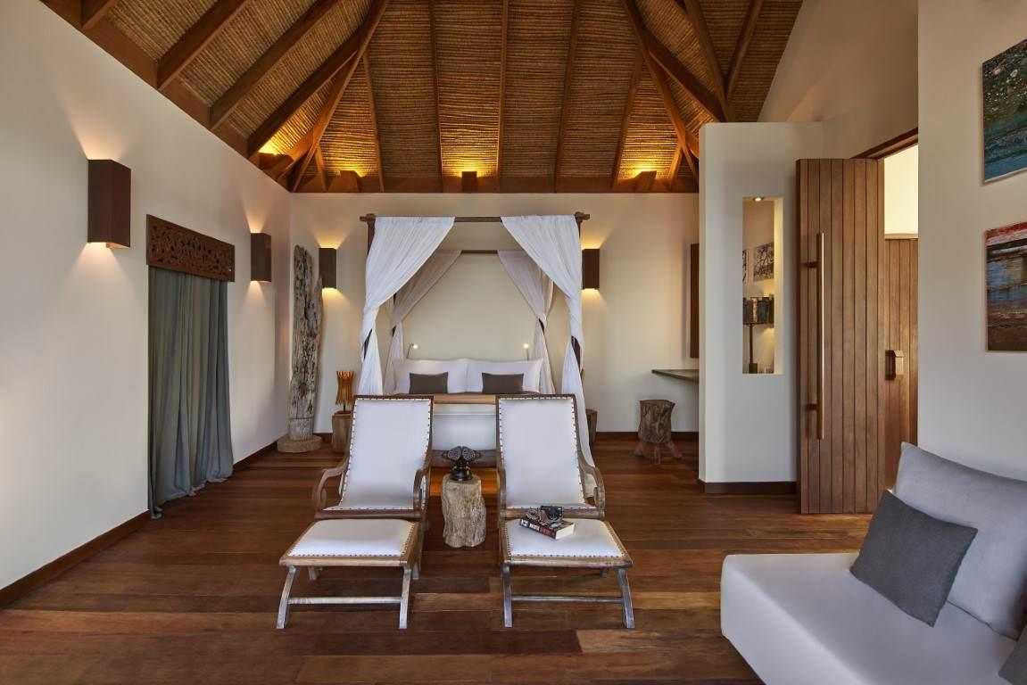 bedroom set up in Royal Villa