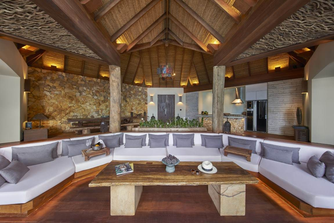 Living area in a two bedroom Jungle Villa