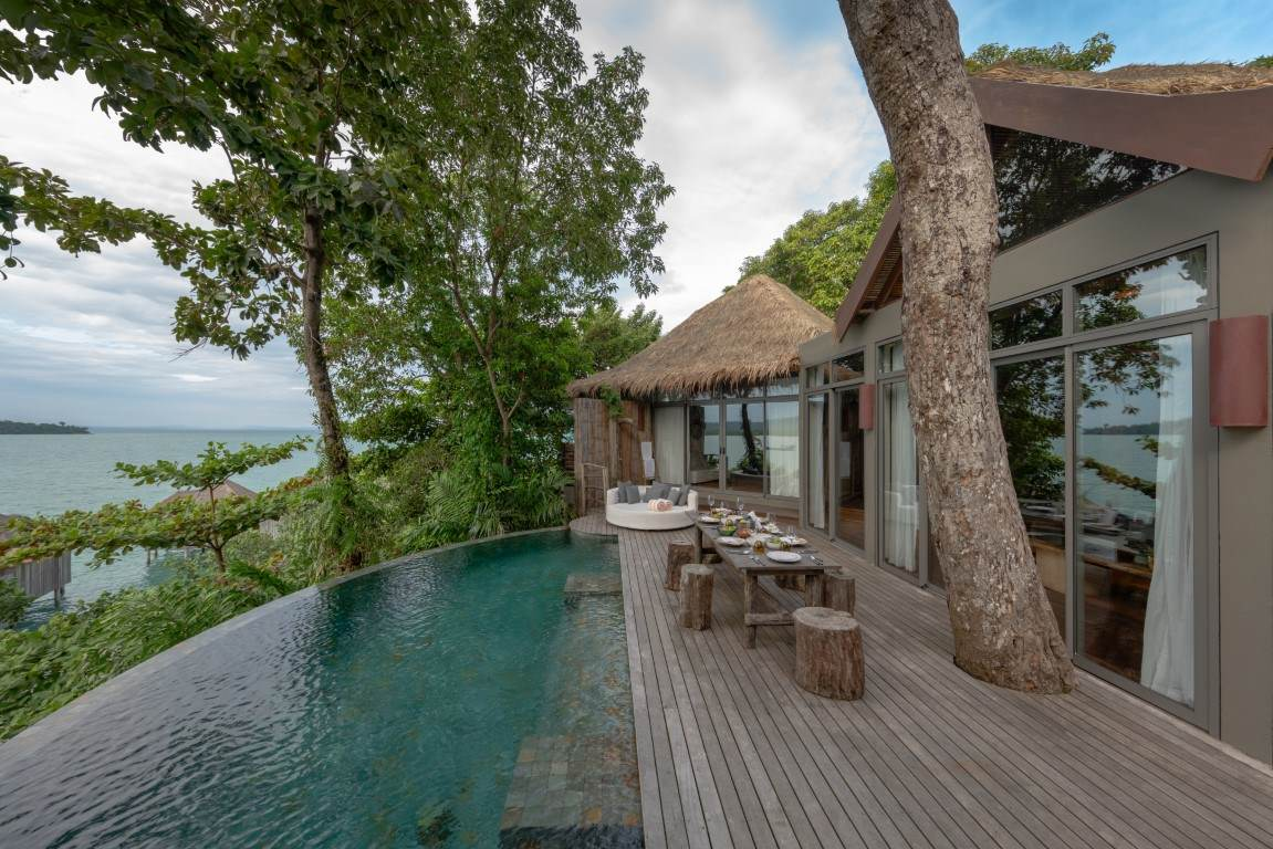 Sundeck and private pool at two bedroom Jungle Villa