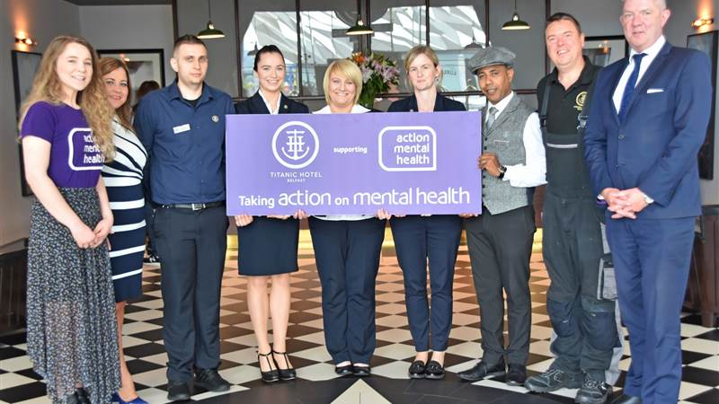 Titanic Hotel Belfast sails into second year of promoting well-being with Action Mental Health