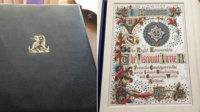 Lord Pirrie Book to Go on Public Display for First Time in a Decade