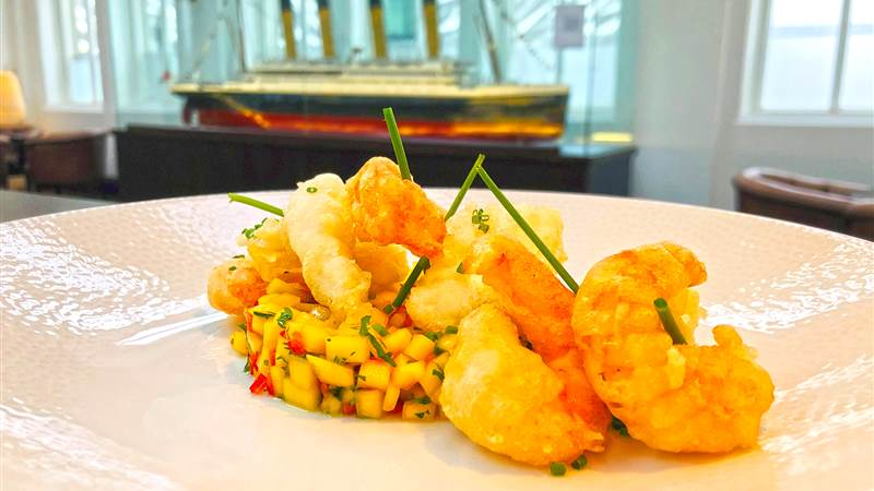 Chef Nigel's Tempura Prawn and Squid, Chilli, Mango and Lime Salsa