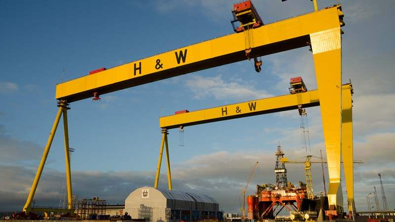 Samson and Goliath cranes in Belfast City Docks