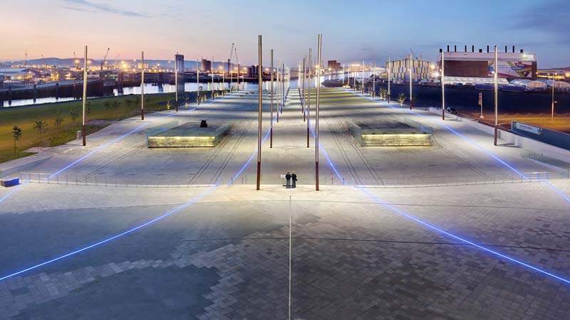 Walk down the very slipways Titanic and Olympic were built and launched