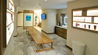 Maya Blue Wellness Changing Rooms