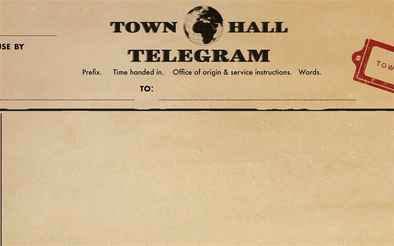 Town Hall Hotel Telegram A