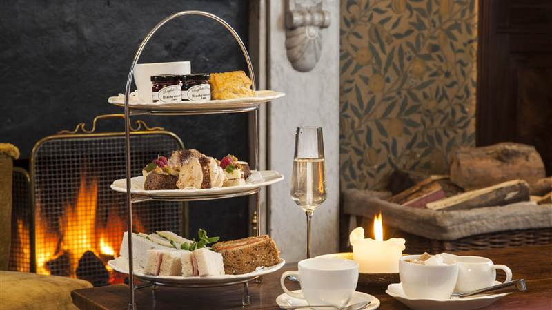 Afternoon Tea by fire