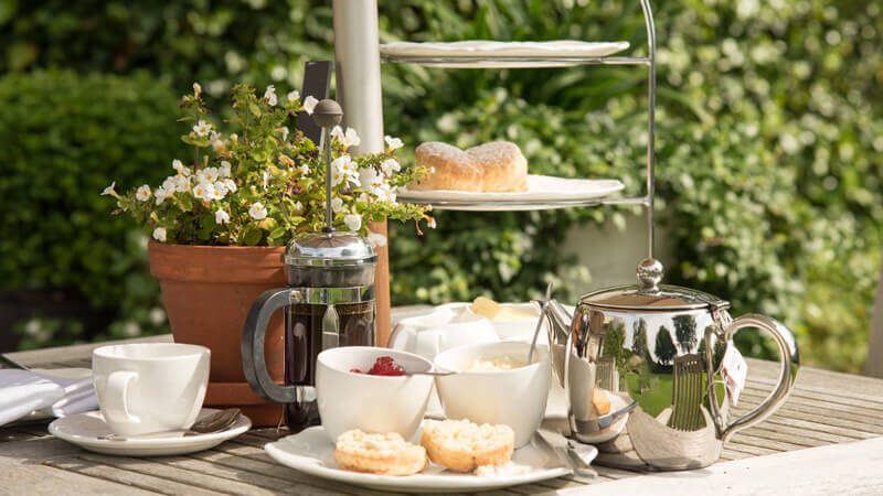 Cream tea in the Garden