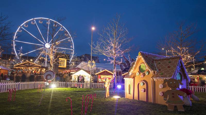 Christmas Market, Eyre Square, Co Galway