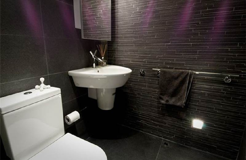 bathroom with relaxing lighting in our boutique hotel in galway
