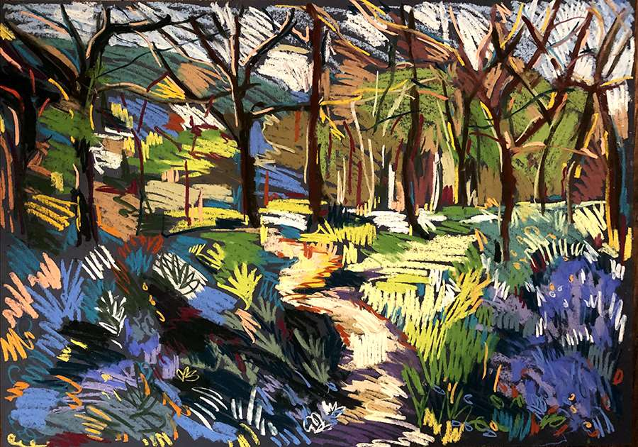 1 Bluebell wood May Day 60x84cm