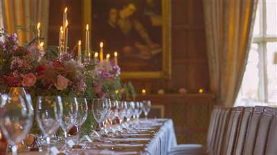 Dining Table wedding venue at Waterford Castle Hotel & Golf