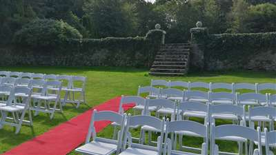 Outdoor wedding venue in Waterford at Waterford Castle Hotel & Golf