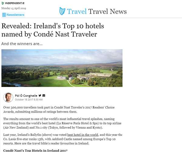 Irish Independent Travel (Oct 2017)