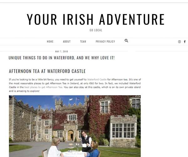 Your Irish Adventure (May 2018)