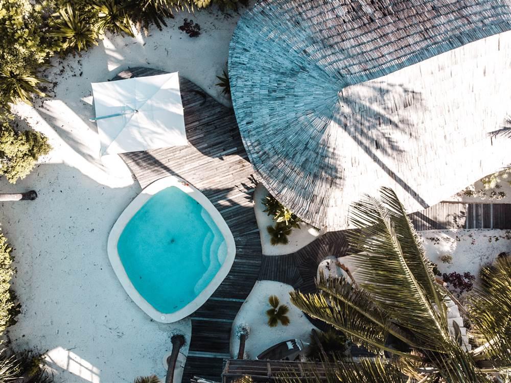 Aerial 1BR villa view
