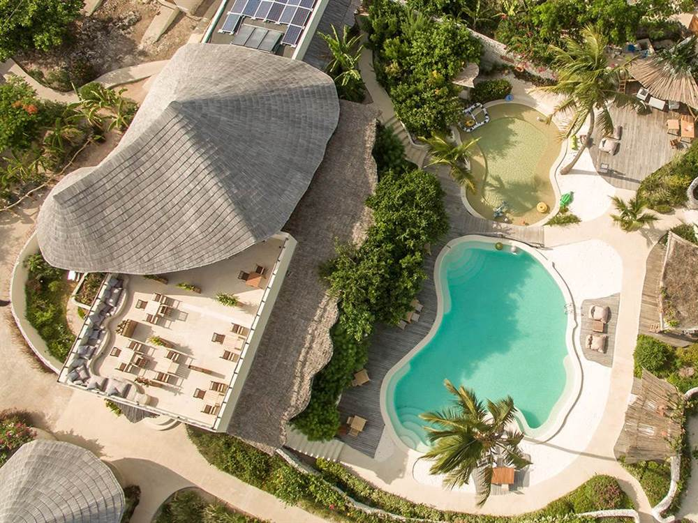 White Sand Luxury Villas Aerial View