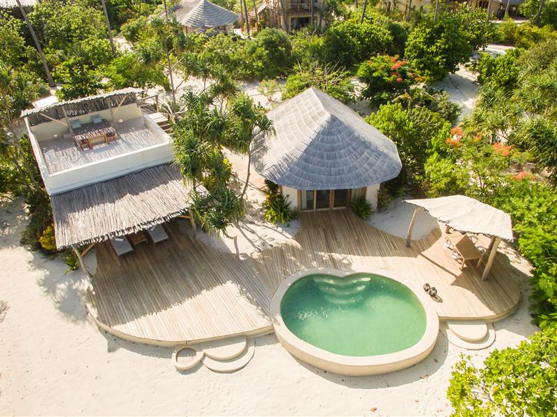 Aerial view of 1BR villa