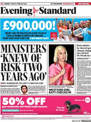 London Evening Standard 5 2 2020 400
