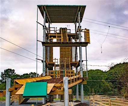 Zipline tower